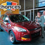 Winner of car at Chances Kamloops